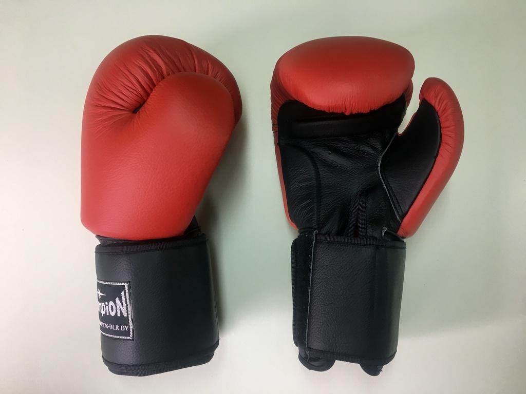 Перчатки для бокса на широком манжете красный с черным